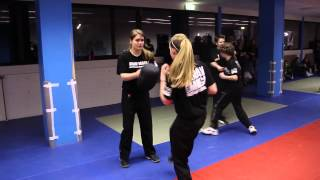 The Girl with the 360 Defense - Teenager Exams at Institute Krav Maga Netherlands