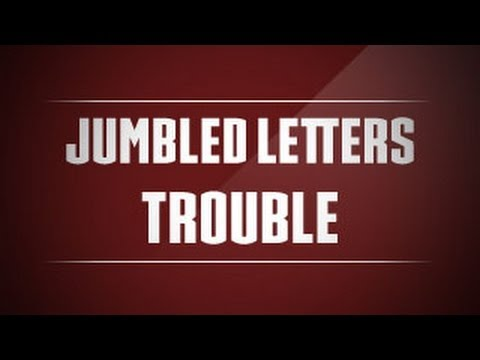 The Jumbled Letters Trouble Arrange Letters To Make