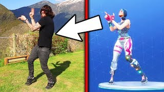 IMITATING FORTNITE DANCES IN REAL LIFE *new dances* 😅