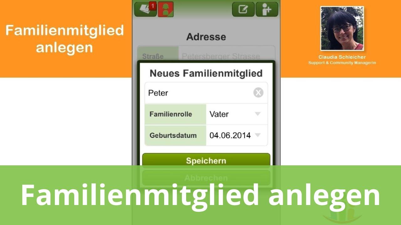registrieren & familienmitglieder einladen in der famanice app, Einladung