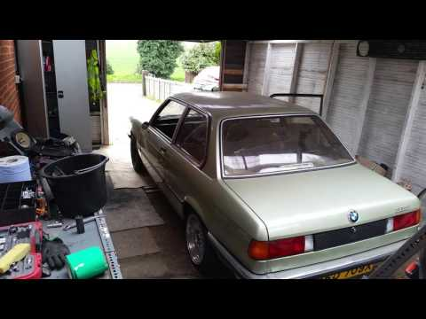 BMW E21 M42 swap - First drive out of garage
