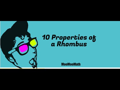 10 Properties of a Rhombus-Geometry - YouTube