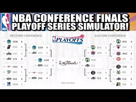 2017 NBA Playoffs Eastern Conference and Western Conference Finals - Playoff Series Simulator