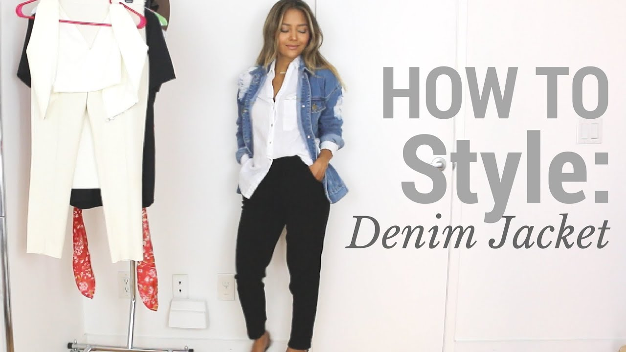 How To Style Denim Jacket Outfit Ideas Lookbook Youtube