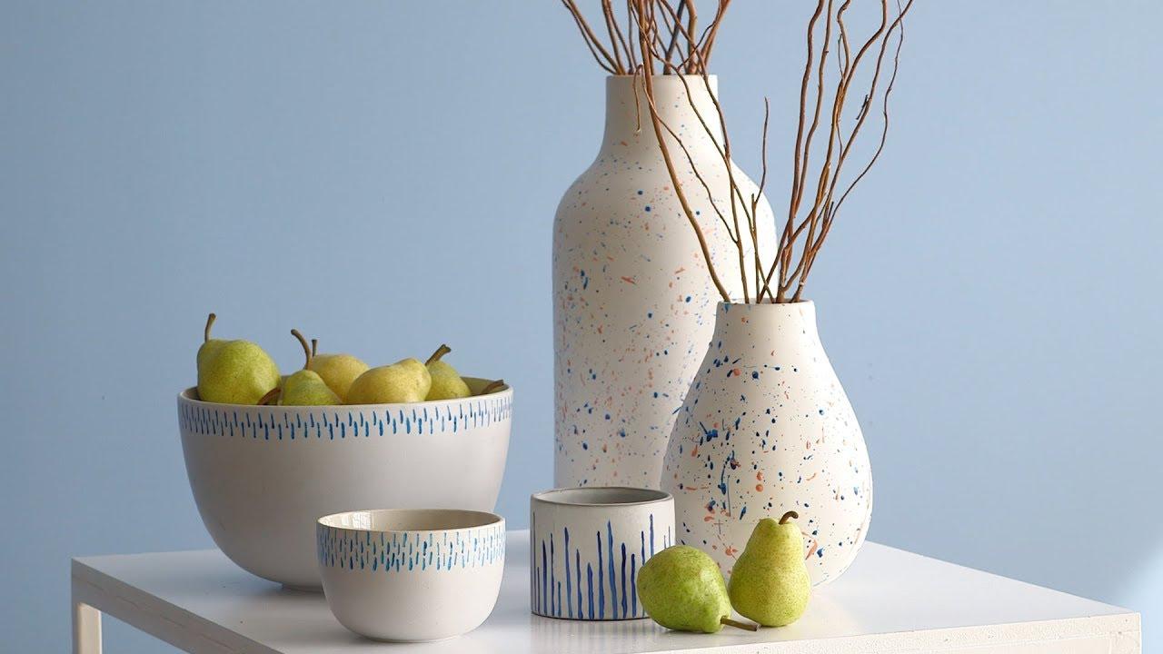 How To Paint Ceramics Martha Stewart Youtube