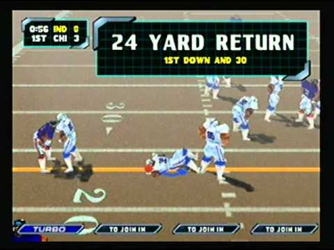 NFL Blitz 2000 - Indianapolis Colts vs Chicago Bears (1st Half)