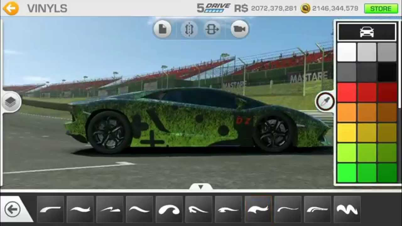 Real racing 3 car customization lamborghini aventador dzliveontwitch edition youtube