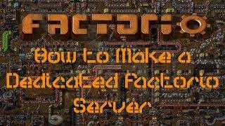 how to make a Factorio server!