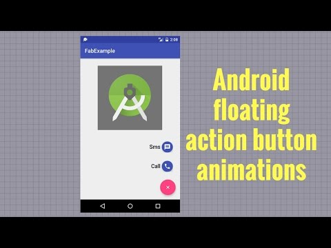 Android floating action button animations