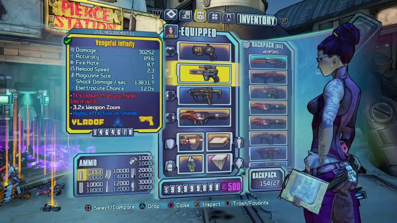 Borderlands 2 Modded Character Any Level!! Ps4