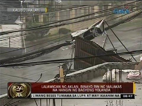 24 Oras: Lalawigan ng Aklan, binayo rin ng malakas na hangin ng Bagyong Yolanda