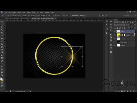 How To Make A Metallic Circle In Photoshop