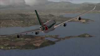 FSX HD : A340 landing @ Naples, Italy (beautiful realistic scenery)