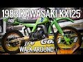 1983 Kawasaki KX125 VMX Motocross Bike Walk Around Filmed On GoPro Hero 5 Session In 4k