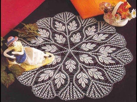 Tig Isi Dantel Orgu Yapimi Yuvarlak Oda Takimi Modeli Crochet Part 3