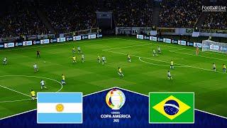 ARGENTINA vs BRAZIL - Copa America 2021 Final   Full Match & All Goals