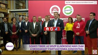Szanyi Tibor: Az MSZP elnöksége már csak a megmaradt pártvagyonra koncentrál