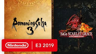 Romancing SaGa 3 and SaGa SCARLET GRACE: AMBITIONS - Nintendo Switch Trailer - Nintendo E3 2019