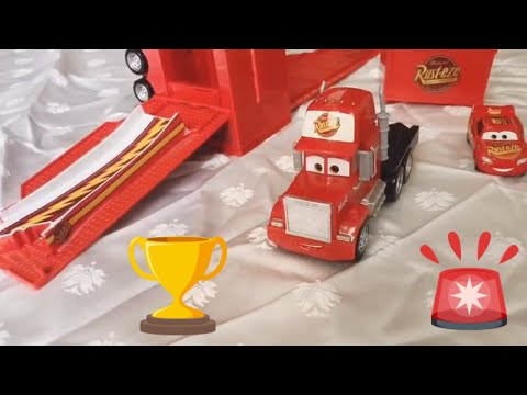 Transforming Mack Truck Playset with Lightning McQueen Cars Toys