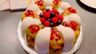 Bánh sinh nhật RAU CÂU - TRÁI CÂY | Delicious Fruit Jelly Cake