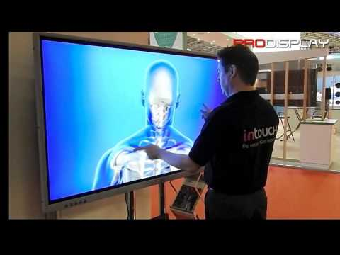 "Pro Display 65"" multi-touch monitor at ISE 2016: For education, corporate, retail and more"