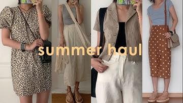 여름패션하울   룩북 🍉 시원하고 편한 꾸안꾸 여름 데일리룩   직장인 대학생 코디   summer fashion haul