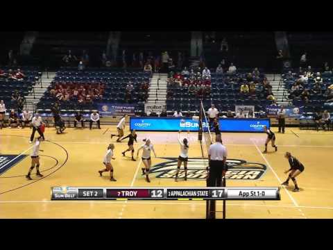 2015 Sun Belt Conference Volleyball Championship: Appalachian State vs Troy Quarterfinal Highlights