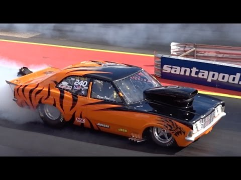 Modified V8 Powered Ford Cars Drag Racing Compilation Video