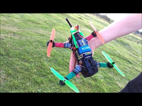 ZMR 250 racing quadcopter. Practice and tests CC3D