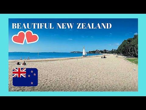 New Zealand Beautiful Mission Bay Beach On A Sunny Day In Auckland