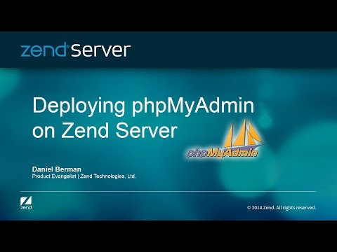 Deploying PhpMyAdmin On Zend Server