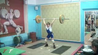 Маклаков Тимур, 13 лет, вк 46 Толчок 52 кг