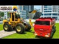 Construction Truck Excavator Building Fountain - Wheel City Heroes (WCH) - New Cartoon