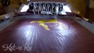 Махровый халат с именной вышивкой и рисунком коня(Вышивка на бордовом махровом халате коня и имени золотой металлизированной нитью. Если хотите такой же,..., 2015-11-13T04:25:11.000Z)