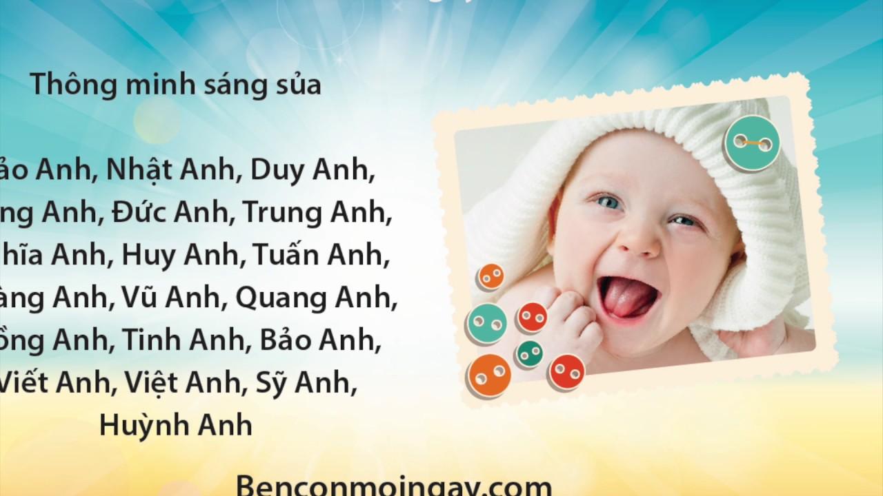 Đặt tên cho con trai sinh năm 2018 Mậu Tuất ý nghĩa & độc đáo