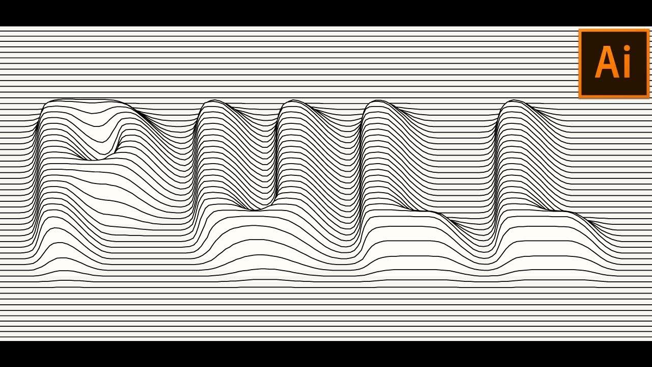 Vector Lines Distortion Effect in Adobe Illustrator
