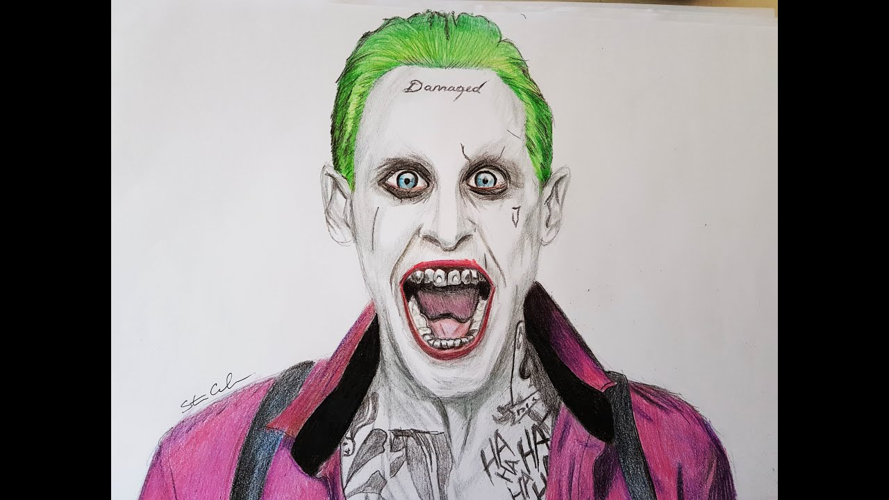Drawing The Joker From Suicide Squad