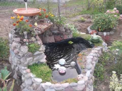 видео: Водопад с фонтаном