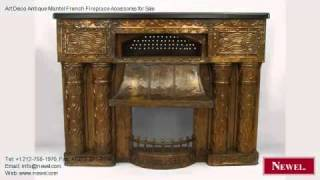 Art Deco Antique Mantel French Fireplace Accessories For