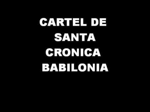 Cartel de Santa-Cronica Babilonia con letra