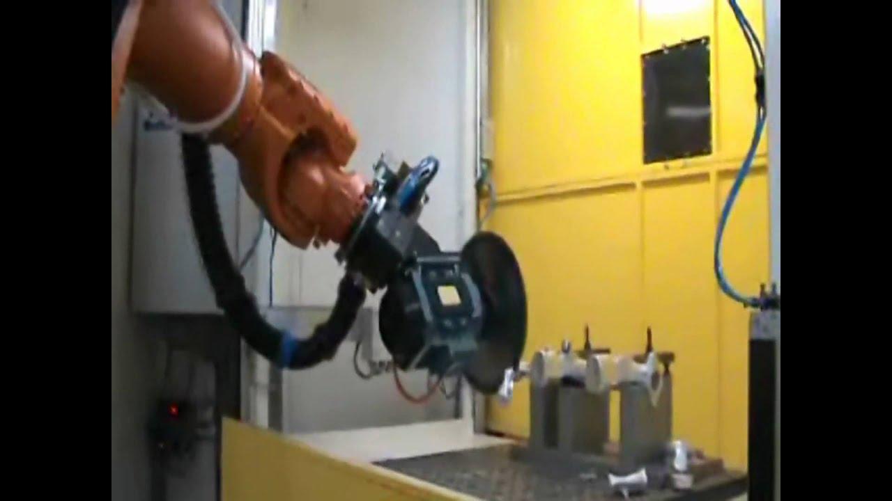 Kuka Robot Slicing Through Aluminium Youtube
