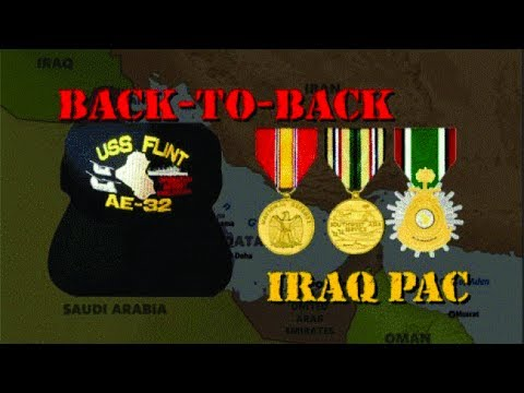 USS Flint (AE-32) Back-to Back Iraq Pac