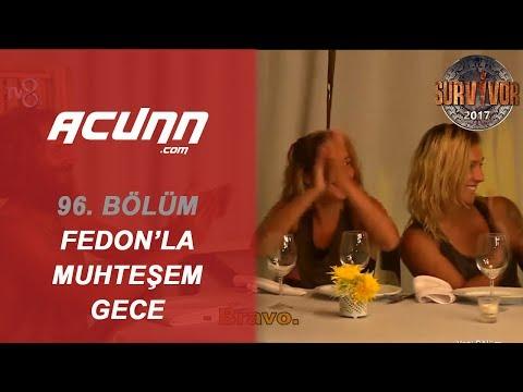 Türk-Yunan Yarışmacılar Fedon İle Muhteşem Bir Akşam Geçirdiler. | Bölüm 96 | Survivor 2017