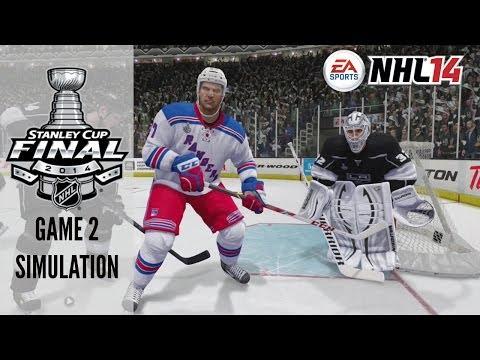 2014 Stanley Cup Final: Rangers vs Kings - Game 2 Sim (NHL 14)