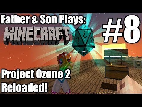Father & Son Minecraft: Project Ozone 2 Reloaded #8 - Sprinklers & Mobs (PC)