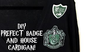 DIY Prefect Badge and House Cardigan