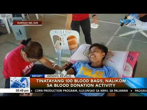 Tinatayang 100 blood bags, nalikom sa blood donation activity