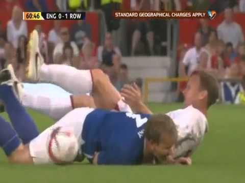 Gordon Ramsay tackled By Teddy Sheringham Soccer Aid 2012