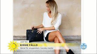 Influencern Kissie fälld – har gjort smygreklam på bloggen - Nyhetsmorgon (TV4)