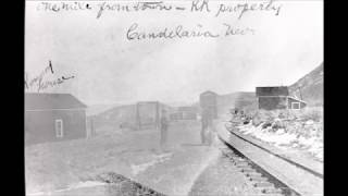 Walking from the Carson & Colorado Railroad turntable to the train depot site at Candelaria, NV